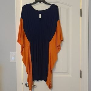 Womens orange and blue dress